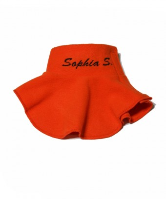 Манишка с застежкой на плече оранжевая