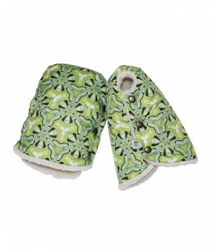 Муфты-варежки «Калейдоскоп зеленый»