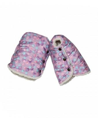 Муфты-варежки «Розовые пузырьки»